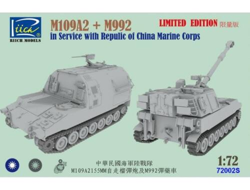 Riich Models M109A2 and M992 China Marine Corps Combo kit 1:72 (RT72002S)