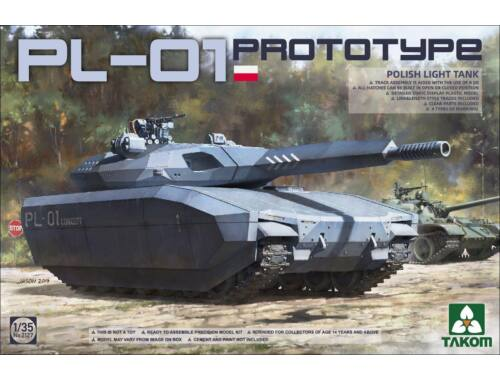 Takom Polish PL-01 Prototype light tank 1:35 (TAK2127)