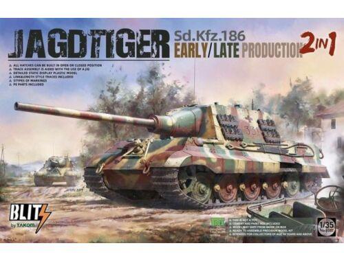 Takom Sd.Kfz.186 Jagdtiger early/late production 2 in 1 1:35 (TAK8001)