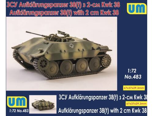 Unimodels Aufklarungspanzer 38(t) with 2cm Kwk38 1:72 (UM483)