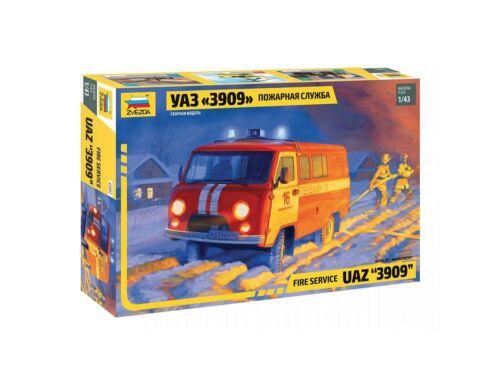Zvezda UAZ 3909 Fire Service Car 1:43 (43001)