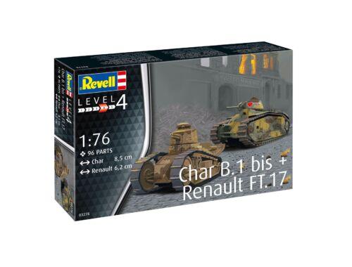 Revell Char B.1 bis   Renault FT.17 1:76 (3278)