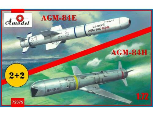Amodel AGM-84E and AGM-84H on trolleys 1:72 (AMO72375)