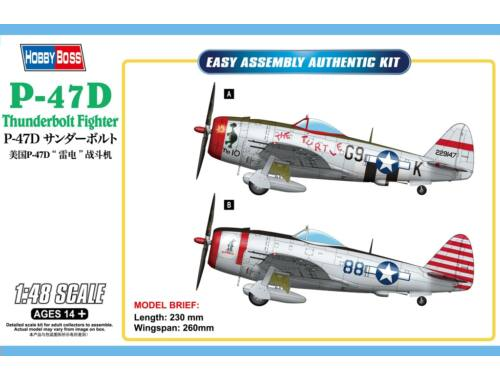Hobby Boss P-47D Thunderbolt Fighter 1:48 (85811)