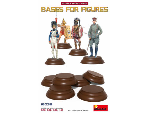 MiniArt Bases set for Figures 6 pcs 1:16 (16039)