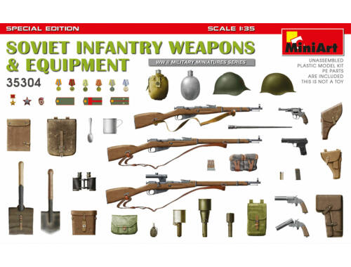 MiniArt Soviet Infantry Weapons and Equipment. Spec. Ed. 1:35 (35304)