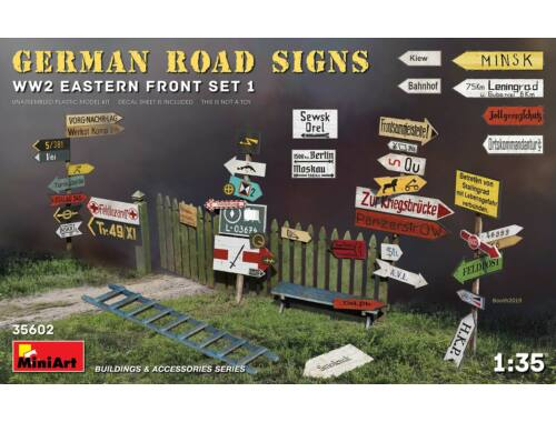 MiniArt German Road Signs WW2 (Eastern Front Set 1) 1:35 (35602)