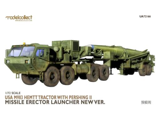 Modelcollect USA M983 Hemtt Tractor With Pershing II Missile Erector Launcher 1:72 (UA72166)