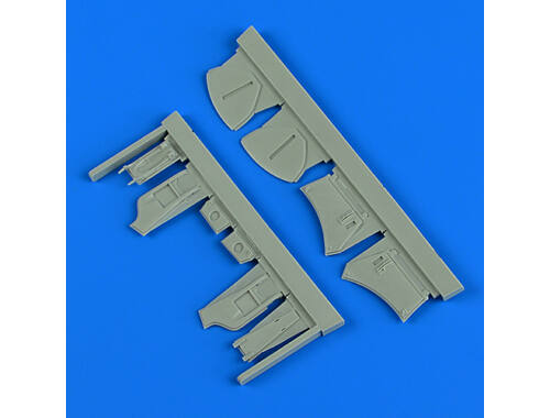 Quickboost Hawker Hunter undercarriage covers for Airfix 1:48 (48 889)