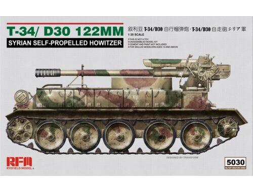 Rye Field Model T-34/D-30 122MM SYRIAN SELF-PROPELLED HOWITZER 1:35 (5030)