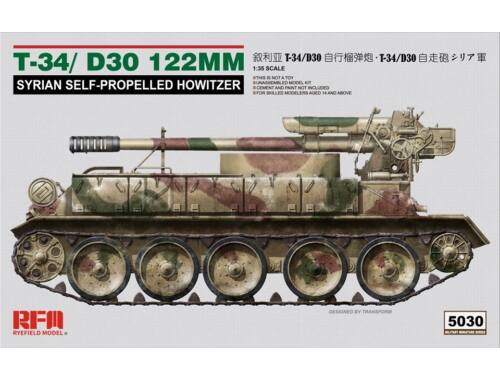 Rye Field Model T-34/D-30 122MM SYRIAN SELF-PROPELLED HOWITZER 1:35 (5030)