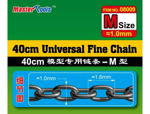 Trumpeter Master Tools 40CM Universal Fine Chain M Size 1.0mmX1.8mm (8009)