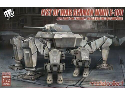 Modelcollect Fist o.War Ger.WWII E-100 Mauskopf a.Bla-100A Emkf 1:72 (UA72160)