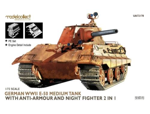 Modelcollect Germany WWII E-50 with anti-armour and night fighter 2 in 1 1:72 (UA72178)