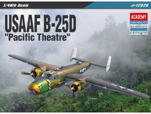 Academy USAAF B-25D Pacific Theatre 1:48 (12328)