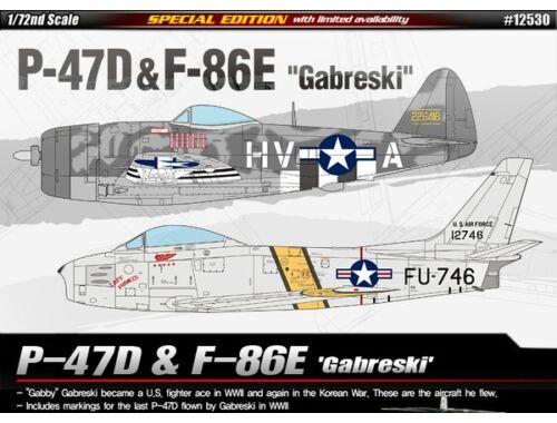 Academy P-47D   F-86E Gabreski 1:72 (12530)