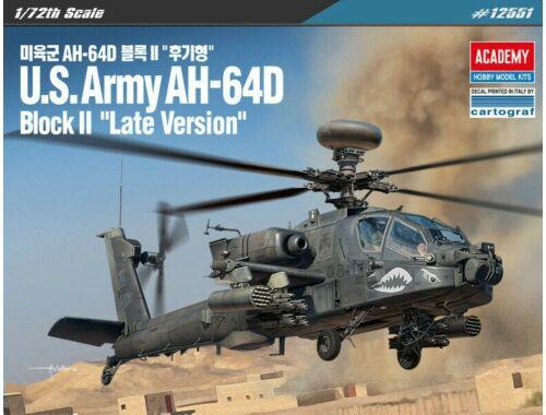 Academy US Army AH-64D Block II Late Ver. 1:72 (12551)