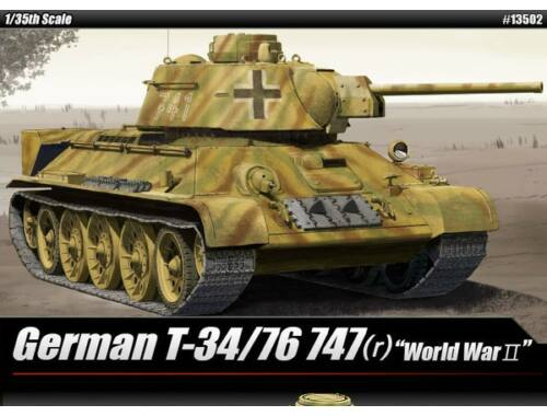 Academy T-34/76 747(r) German Version 1:35 (13502)