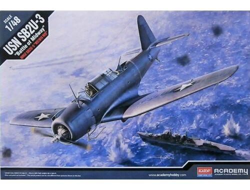 Academy USN SB2U-3 Battle of Midway 1:48 (12324)