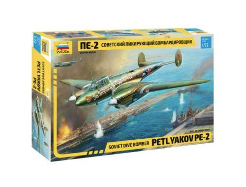 Zvezda Soviet Dive Bomber Petlyakov Pe-2 1:72 (7283)
