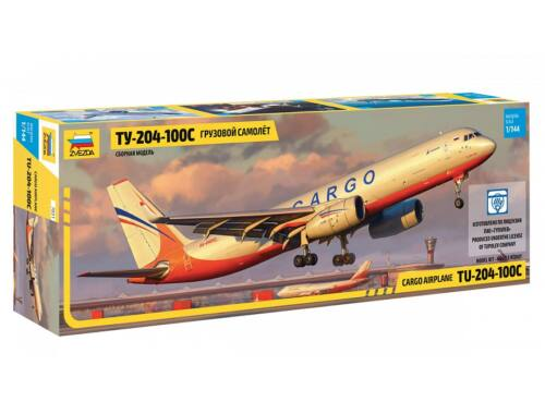 Zvezda Tupolev TU-204-100C Cargo Airplane 1:144 (7031)