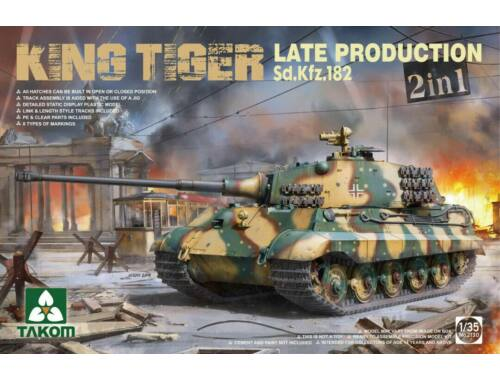 Takom German Heavy Tank Sd.Kfz182 King Tiger I Late Producti 2in1 1:35 (2130)