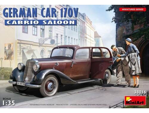 MiniArt German Car 170V Cabrio Saloon 1:35 (38016)