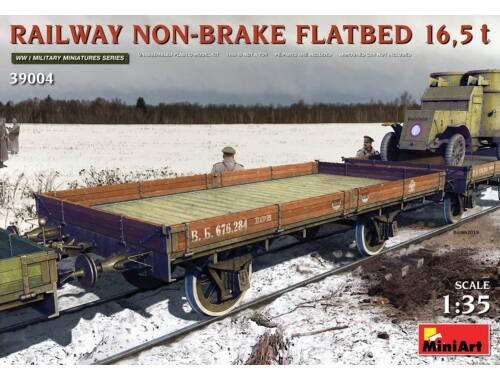 MiniArt Railway Non-brake Flatbed 16,5 t 1:35 (39004)