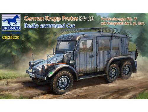 Bronco German Krupp Protze Kfz.19 Radio command Car 1:35 (CB35220)