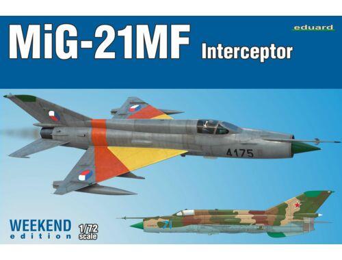Eduard MiG-21MF Interceptor, Weekend Edition 1:72 (7453)