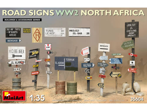 MiniArt Road Signs WW2 (N.Africa) 1:35 (35604)