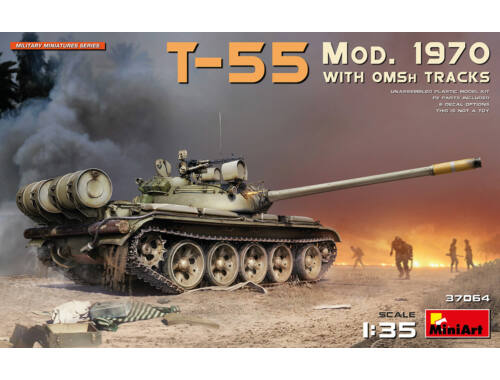 MiniArt T-55 Mod. 1970 w/OMSh Tracks 1:35 (37064)