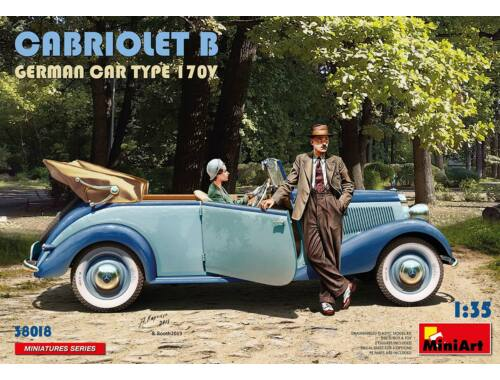 MiniArt Cabriolet B German Car Type 170V 1:35 (38018)