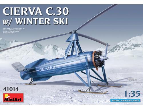 MiniArt Cierva C.30 with Winter Ski 1:35 (41014)