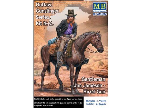 Master Box Outlow. Gunslinger Kit No.2. Gentleman Jim Jameson - Hired Gun 1:35 (35204)