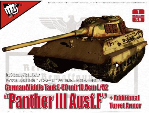 Modelcollect German Middle Tank E-50 mit 10.5cm L/52 Panther III Ausf.F 1:35 (UA35015)