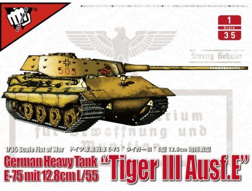 Modelcollect German heavy tank WWII E-75 mit 12.8cm L/55 tiger III Ausf.E 1:35 (UA35016)