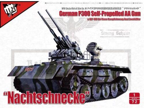 Modelcollect Fist of War German P300/4 PanzerKampfWagen und Trager Heavy Anti-Air ver 1:72 (UA72308)