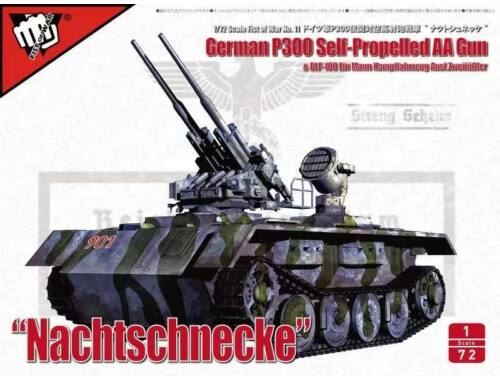 Modelcollect Fist of War German P300/4 PanzerKampfWagen und Trager Heavy Anti-Air ver 1:72 (UA72308)