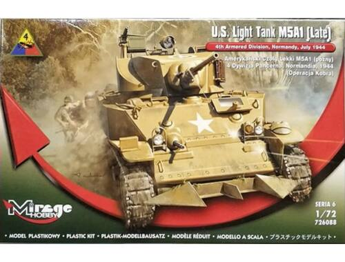 Mirage Hobby U.S. Light Tank M5A1 (Late) 1:72 (726088)