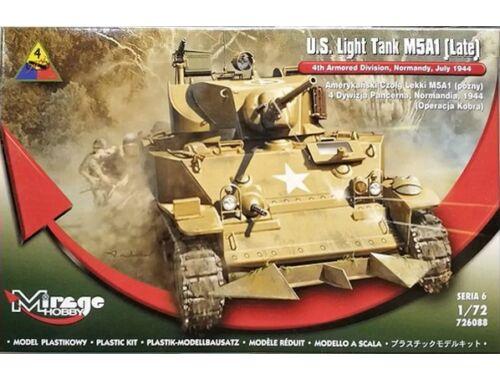 Mirage Hobby U.S. Light Tank M5A1 (Late) 1:72 (726088)