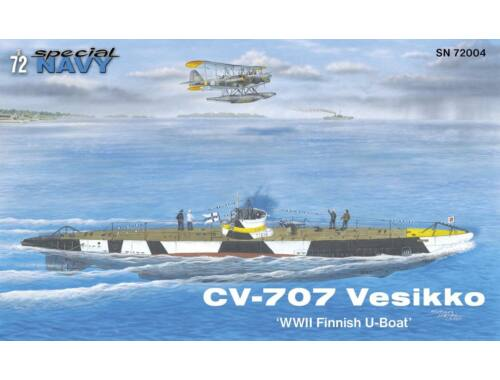 MPM CV 707 Vesikko Finnish WWII Submarine 1:72 (72004)