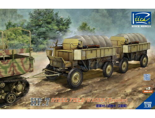 Riich Models German Hf.7 steel field wagen with resin parts (Dual pack) 1:35 (RV35041)
