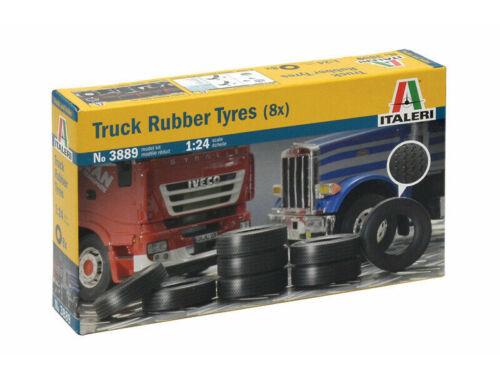 Italeri Truck Rubber Tyres (x8) 1:24 (3889)