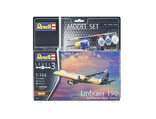Revell Gift Set Embraer 190 Lufthansa New Livery 1:144 (63883)