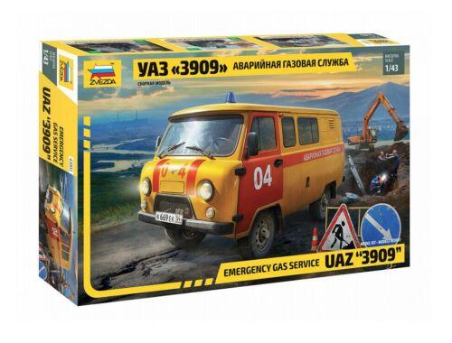 Zvezda UAZ GAS Service Car 1:43 (43003)
