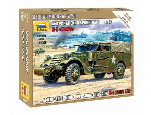 Zvezda M-3 Scout Car 1:100 (6245)