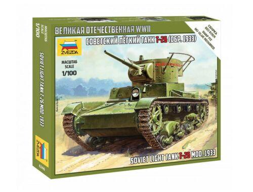 Zvezda T-26 mod.1933 1:100 (6246)