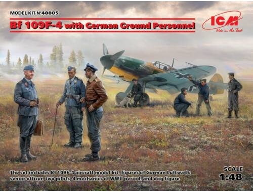 ICM Bf 109F-4 with German Ground Personnel 1:48 (48805)