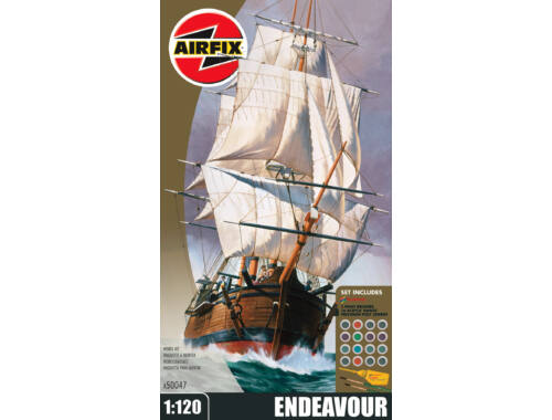 Airfix Endeavour Bark and Captain Cook 250th anniversary 1:120 (A50047)